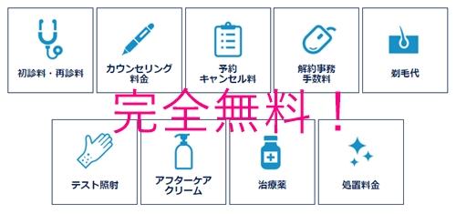 フレイアクリニックキャンペーン追加料金0円